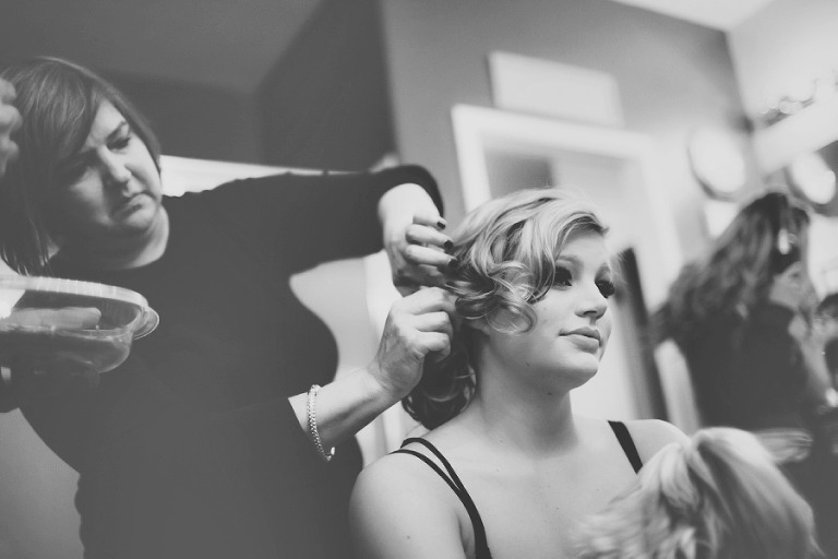 Canyon Gate Country Club Wedding Photography Hair and Makeup Black and White