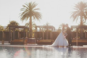 M Resort wedding photographer Adam Trujillo. Bride and Groom portraits in Las Vegas.
