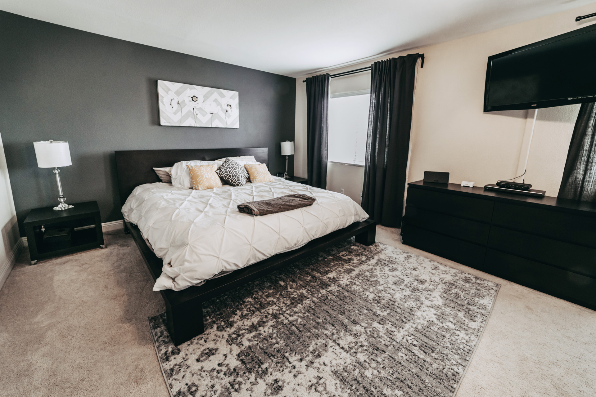 Master bedroom real estate pictures. Real Estate photographer in Las Vegas.